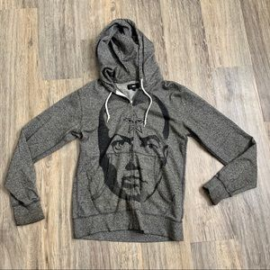 Obey Grey Zip Up Hoodie